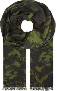 Balmain Printed modal scarf