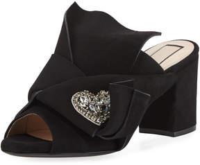 No.21 No. 21 Velvet Block-Heel Mule Sandal