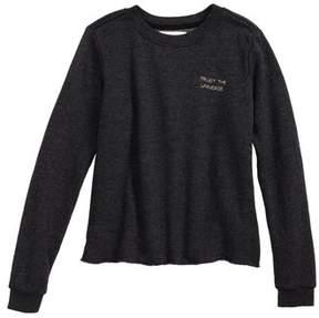 Spiritual Gangster Girl's Trust The Universe Crop Sweatshirt