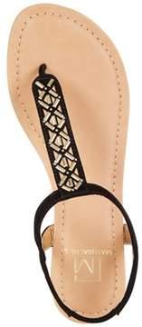 Material Girl Womens Skyler Open Toe Casual Flat Sandals.