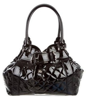 Burberry Quilted Beaton Bag - BLACK - STYLE
