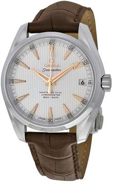 Omega Aqua Terra 150m Master Co-Axial Silver Dial Brown Leather Men's Watch 23113392102003