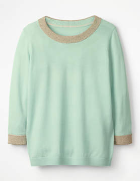 Boden Sparkle Trim Knitted Sweater