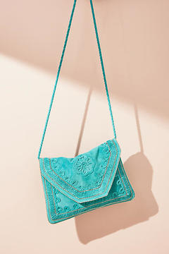 Anthropologie Embroidered Crossbody Bag