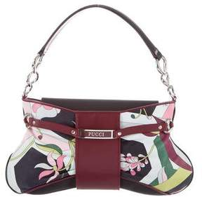 Emilio Pucci Printed Leather-Trimmed Shoulder Bag