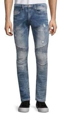 Buffalo David Bitton Max-X Distressed Skinny Jeans