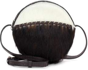 Patricia Nash Scafati Leather Haircalf Crossbody Bag