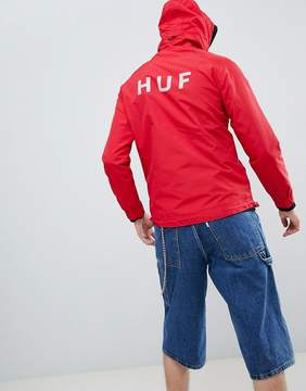 HUF Shell Jacket With Back Print In Red