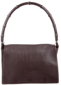 Gucci Bamboo Flap Bag - BROWN - STYLE