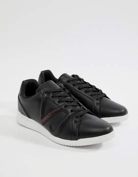Versace Logo Runner Sneakers In Black