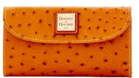 Dooney & Bourke Ostrich Continental Clutch Wallet - TAN - STYLE