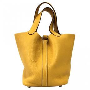 Hermes Picotin leather handbag - YELLOW - STYLE