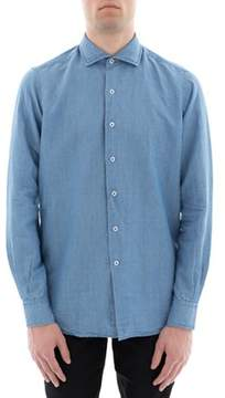 Orian Men's Light Blue Linen Shirt.