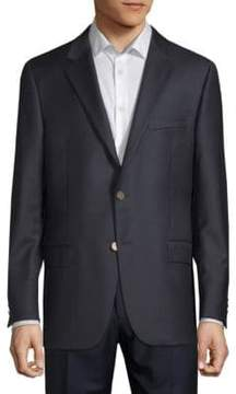 Hickey Freeman Navy Wool Blazer