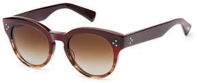 Salt Lorna Two-Tone Round Polarized Titanium Sunglasses