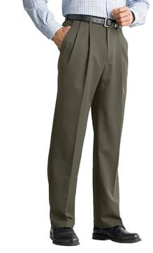 Haggar Big & Tall Cool 18® Classic-Fit Pleated No-Iron Expandable Waist Pants