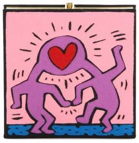 Olympia Le-Tan Olympia Le Tan X Keith Haring Love book clutch