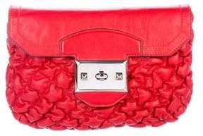 Alexander McQueen Textured Leather Clutch