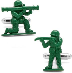 Asstd National Brand Green Army Men Cuff Links