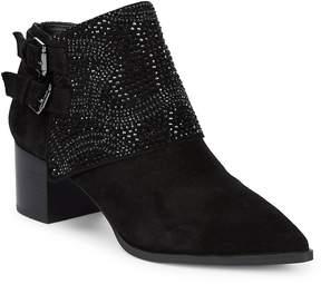 Karl Lagerfeld Paris Women's Asasha Studded Suede Booties