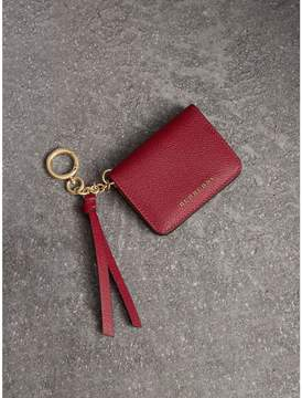 Burberry Leather and Haymarket Check ID Card Case Charm