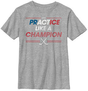 Fifth Sun Athletic Heather 'Practice Like a Champion' Crewneck Tee - Youth