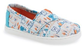 Toms Infant Girl's 'Classic - Bears' Slip-On