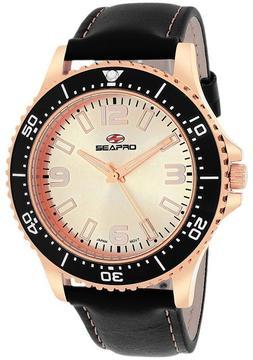 Seapro SP5314 Men's Tideway Black Leather Watch