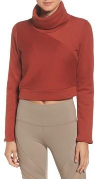 Alo Women's Soleil Funnel Neck Crop Pullover