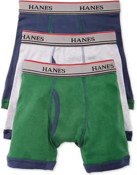 Hanes Platinum 3-Pk. Ringer Boxer Briefs, Little Boys (4-7) & Big Boys (8-20)