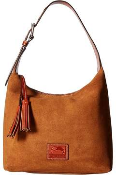 Dooney & Bourke Patterson Suede Paige Sac Handbags - AMBER W/ TAN TRIM - STYLE