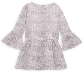 Splendid Little Girl's Printed Bell-Sleeve Dress
