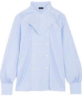 Joseph Bix Striped Cotton-poplin Shirt - Blue