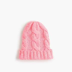 J.Crew Girls' cable-knit beanie hat