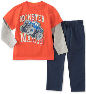 Kids Headquarters 2-Pc. Monster Truck Graphic-Print Shirt & Pants Set, Toddler Boys (2T-5T)