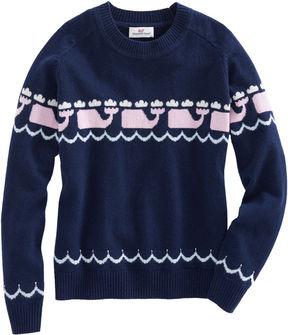 Vineyard Vines Girls Multi Whale Intarsia Sweater