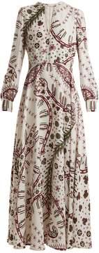 Valentino Leopard-print crepe dress