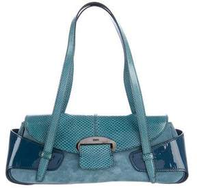 Tod's Karung-Trimmed Shoulder Bag
