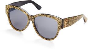 Saint Laurent SL M3/F Gold Glitter XL Cat Eye Sunglasses