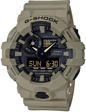 G-Shock Men's Analog-Digital Beige Resin Strap Watch 53mm