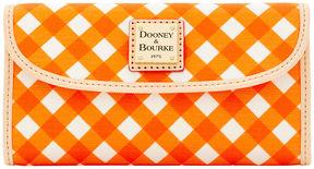 Dooney & Bourke Gingham Continental Clutch - ORANGE - STYLE