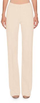 Agnona Flat-Front Flare-Leg Trousers