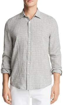Bloomingdale's The Men's Store at Linen Patterned Long Sleeve Button-Down Shirt - 100% Exclusive