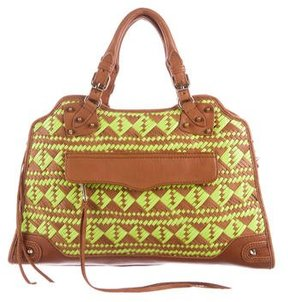 Rebecca Minkoff Woven Morning After Bag - BROWN - STYLE