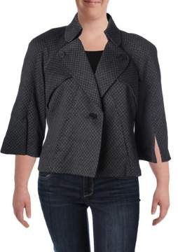 Nine West Womens Knit 1 Button Jacket