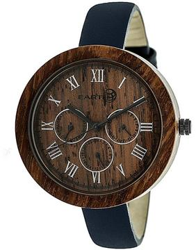 Earth Brush Collection ETHEW3803 Women's Wood Watch with Leather Strap