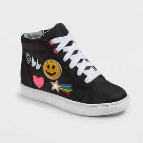 Stevies Girls' #PLAYALLDAY Nylon Emoji High Top - Black