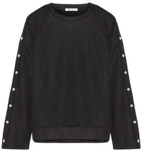 Alexander Wang Coated French Terry Sweatshirt - Black