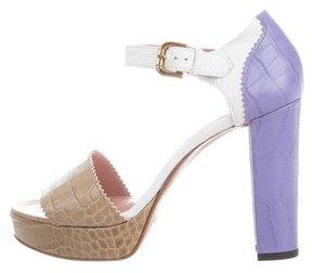 Studio Pollini Embossed Platform Sandals w/ Tags