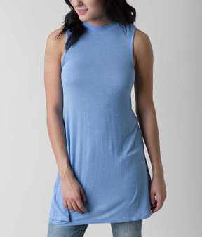 Eyeshadow Solid Tunic Tank Top